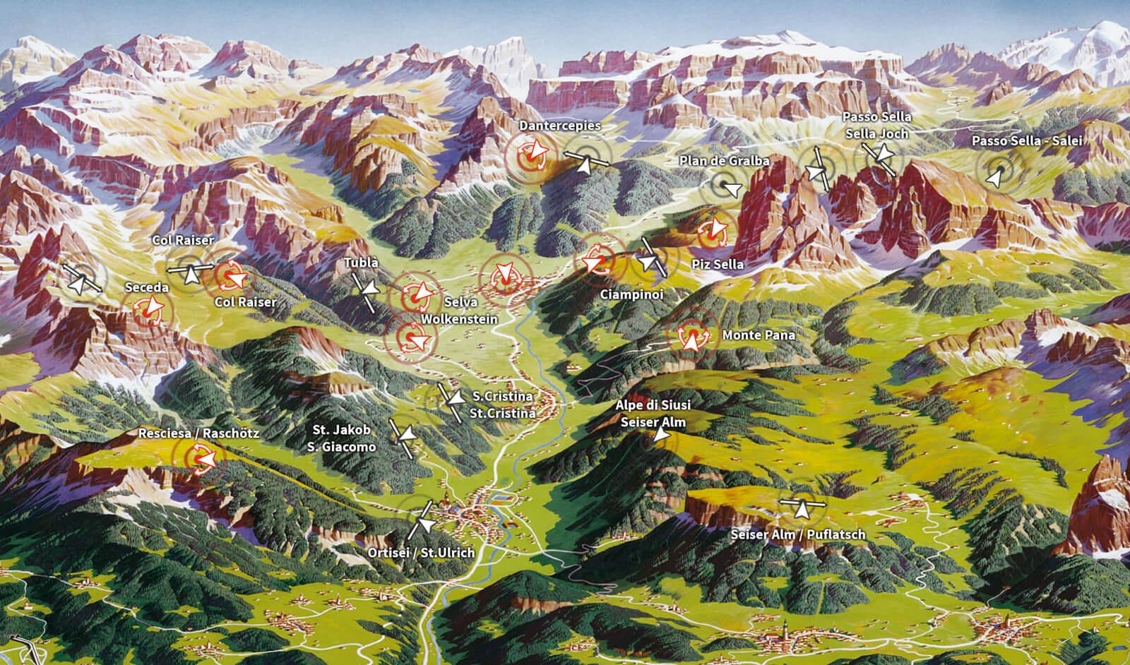 val gardena italien karta Webcams in Val Gardena   Dolomites val gardena italien karta